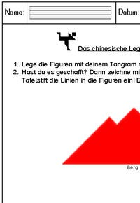 Kostenloser Download - Arbeitsblatt Tangram (1)