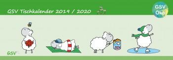 GSV Tischkalender - Edgar, das Schaf 2019/20 - Öko