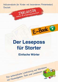 Inklusionskiste - Der Lesepass für Starter: Einfache Wörter - Paket (ebook)