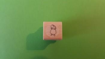 """Mini-Stempel """"Edgar, das Schaf"""" auf 2 Beinen stehend"""