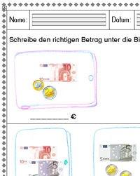 """Kostenloser Download - Arbeitsblatt """"Rechnen mit Euro bis 20 (1)"""""""