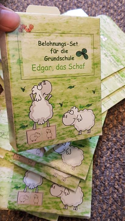 Faltschachtel mit Automatikboden Edgar, das Schaf (10 Stück)