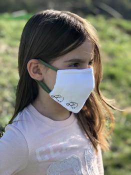 """Mund-Nasen-Maske für Grundschul-Kinder """"Edgar, das Schaf"""" (Größe 1)"""