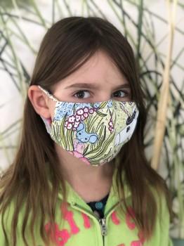 Mund-Nasen-Maske für Grundschul-Kinder - Mädchen