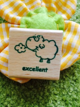 "Belohnungs-Stempel, englisch, sheep Edgar ""excellent"""