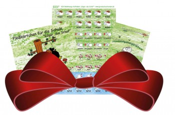 Geschenkpaket für Lehrer: Hausaufgabengutscheine (1065) + Fleißkärtchen Edgar (883) + Aufkleber Edgar (1363)