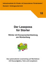 Inklusionskiste - Der Lesepass für Starter: Wörter mit Konsonantenhäufung am Wortanfang (ebook)