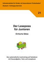 Inklusionskiste - Der Lesepass für Junioren: Einfache Sätze (ebook)