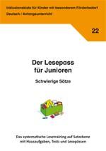 Inklusionskiste - Der Lesepass für Junioren: Schwierige Sätze (ebook)