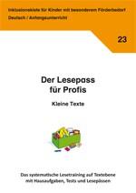 Inklusionskiste - Der Lesepass für Profis: Kleine Texte (ebook)