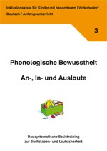 Inklusionskiste 3 - Phonologische Bewusstheit: An-, In- und Auslaute (ebook)