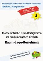 Mathematische Grundfertigkeiten im pränumerischen Bereich Raum-Lage-Beziehung (ebook)