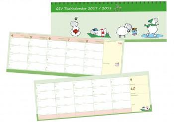 GSV Tischkalender - Edgar, das Schaf 2018/19