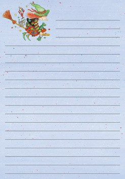 "Kinderbriefpapier ""Hexe"", DIN A5 (Restposten)"