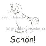 """Belohnungs-Stempel, Kater Kasimir, """"Schön!"""""""