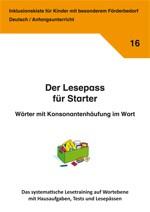 Inklusionskiste - Der Lesepass für Starter: Wörter mit Konsonantenhäufung im Wort (ebook)