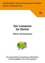 Inklusionskiste - Der Lesepass für Starter: Wörter mit Zwielauten (ebook)