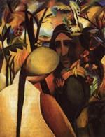 Kunstdruck Schule: Macke, August - Indianer (1911)