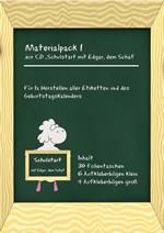 """Materialpack 1 zur CD """"Schulstart mit Edgar, dem Schaf"""""""