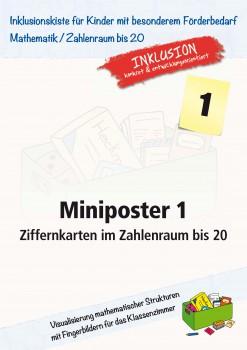 Miniposter 1: Ziffernkarten im Zahlenraum bis 20 (ebook)