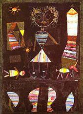 Kunstdruck Schule: Klee, Paul  - Puppentheater (1923)