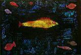Kunstdruck Schule: Klee, Paul  - der Goldfisch (1925)