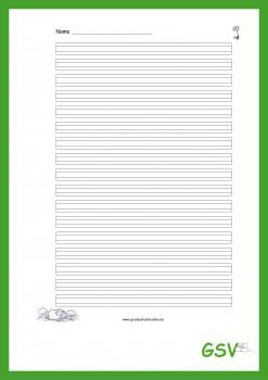 Kostenloser Download - Schreibblatt Edgar, das Schaf - Frühling (Lineatur 2)