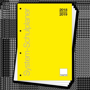"""TimeTEX Schulpl. """"lose Blatteinlage"""", A4-Plus, gelb 2019/2020"""