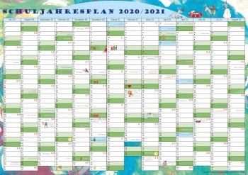 GSV Schuljahresübersicht 2020/21 DIN A4 für Tisch und Planer