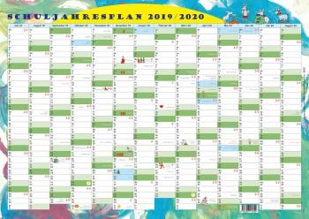 GSV Wandposter - Schuljahresplan 2019/20 DIN A2