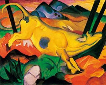 Kunstdruck Schule: Marc, Franz - Die gelbe Kuh (1911)