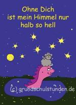 """Postkarte """"Ohne Dich ist mein Himmel nur halb so hell"""""""