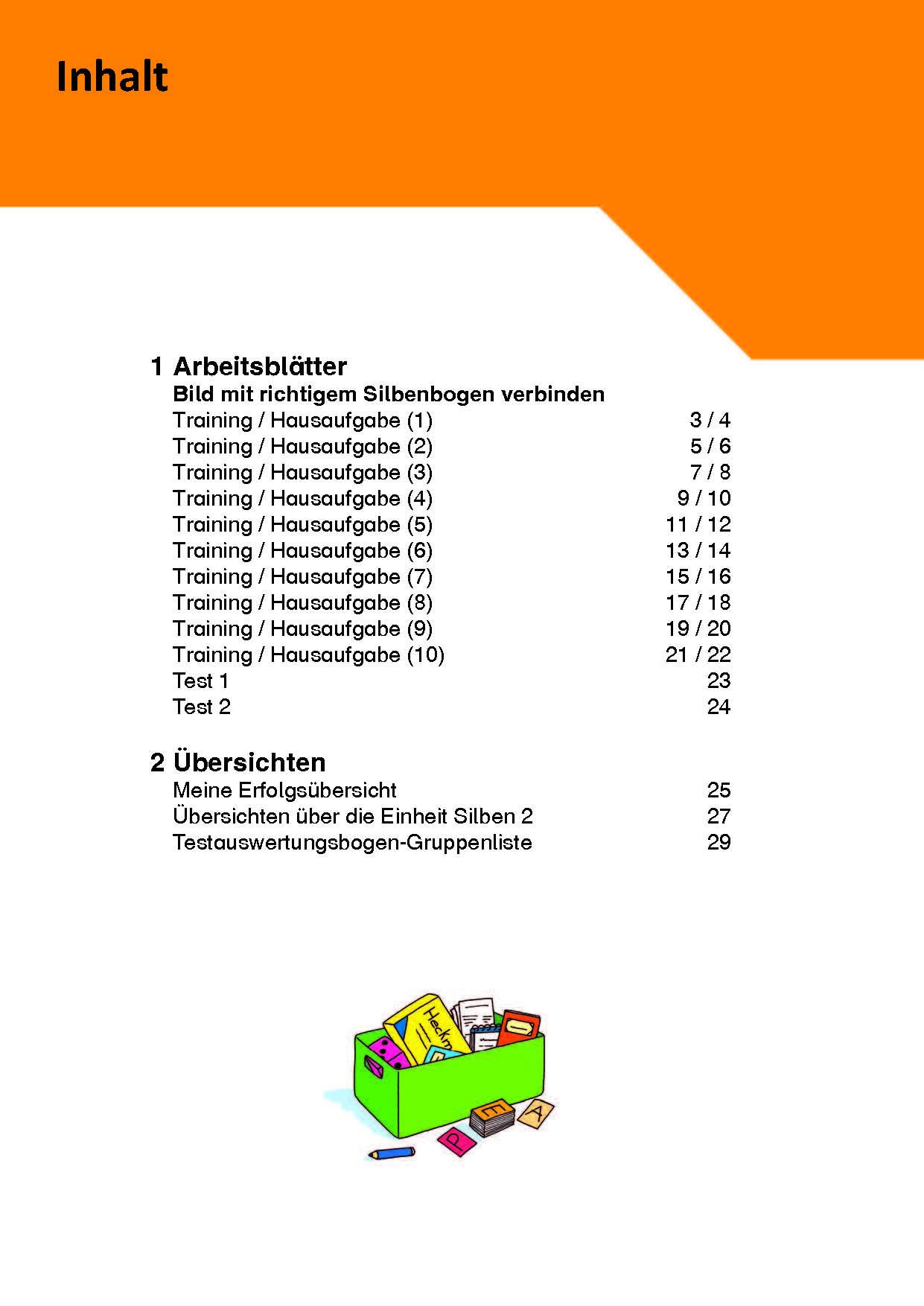 Inklusionskiste - Phonologische Bewusstheit: Silben 2 (ebook)