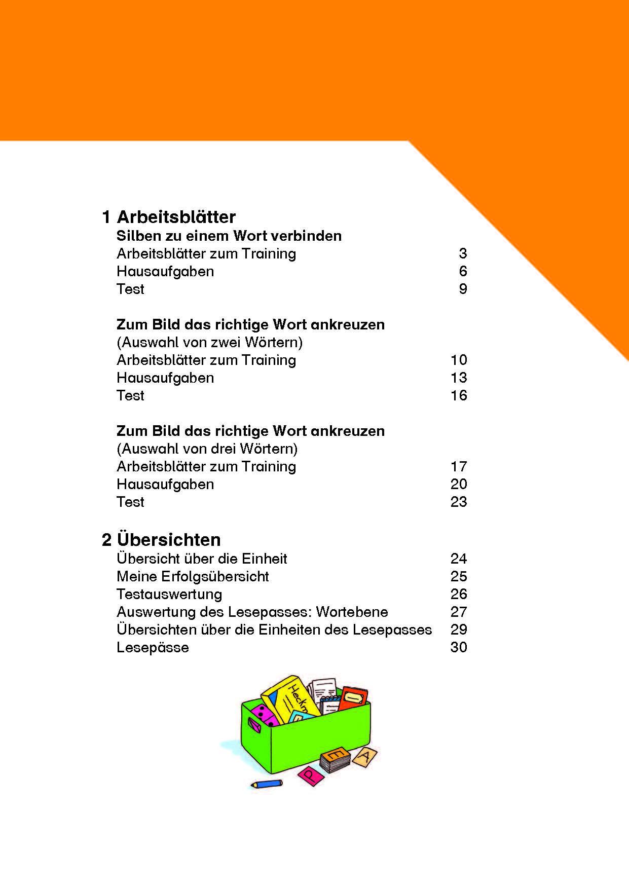 Inklusionskiste - Der Lesepass für Starter: Wörter mit Zwielauten ...