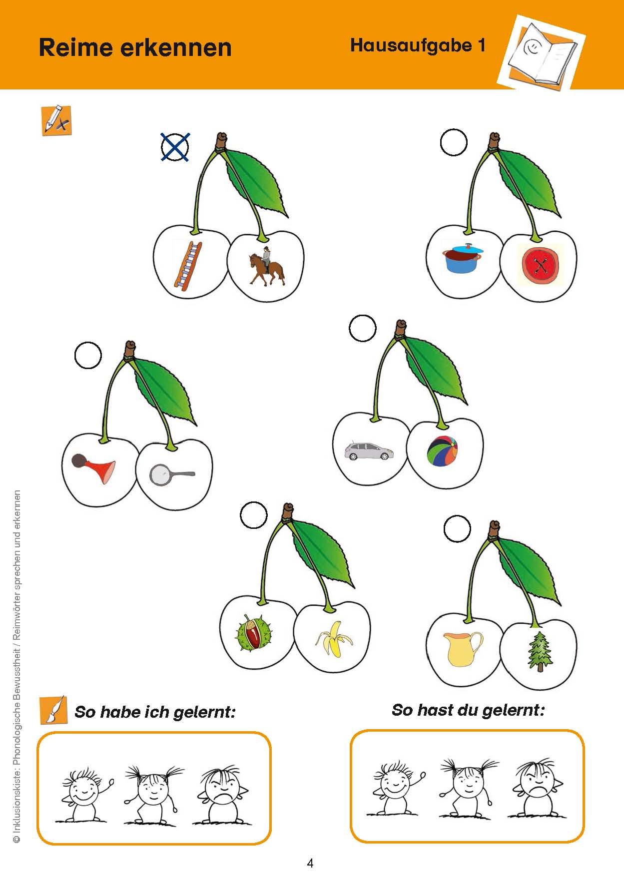 Inklusionskiste 1 - Phonologische Bewusstheit: Reimwörter sprechen ...