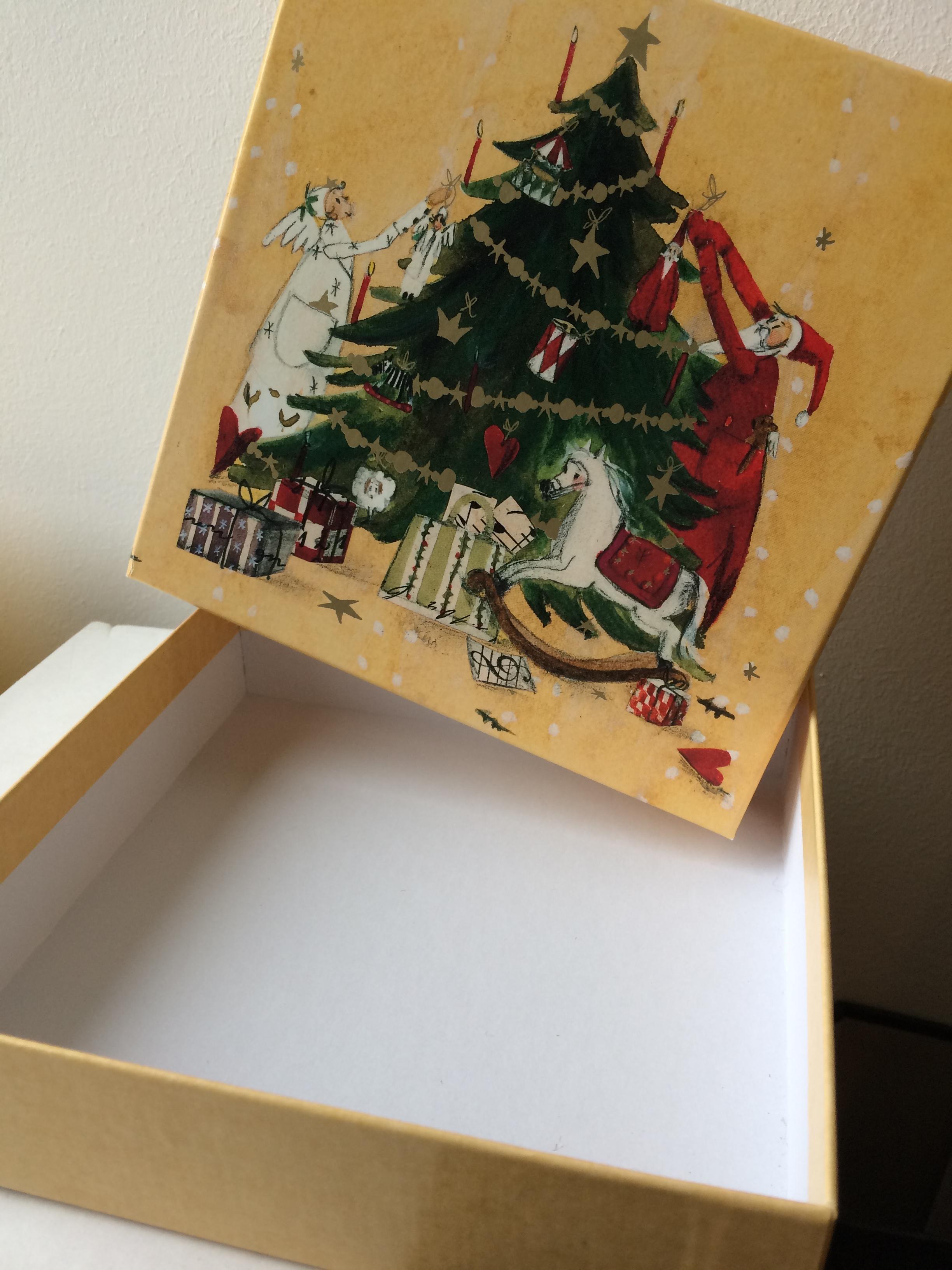 geschenk schachtel weihnachten silke leffler d37217. Black Bedroom Furniture Sets. Home Design Ideas