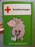 GSV Krankenmappe Igel grün