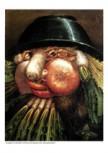 Kunstdruck Schule: Arcimboldo, Guiseppe  - Portrait mit Gemüse