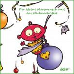 Der kleine Marsmensch und das Weihnachtsfest - Ein Adventskalender zum Lesen und Vorlesen - CD