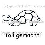 """Belohnungs-Stempel, Emmi, die Schildkröte """"Toll gemacht!"""""""