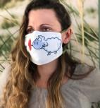 """Mund-Nasen-Maske für Lehrer 3-lagig """"Edgar, das Schaf"""" (Größe 2)"""