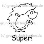 """Belohnungs-Stempel, Igelchen """"Super!"""""""