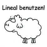 "Stempel, Edgar das Schaf ""Lineal benutzen!"""