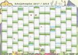GSV Wandposter - Schuljahresplan 2017/18 A2