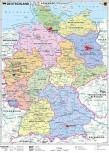 Deutschland politisch Landkarte – Wandkarte