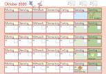Kalenderblatt Oktober - Vorschule, Grundschule